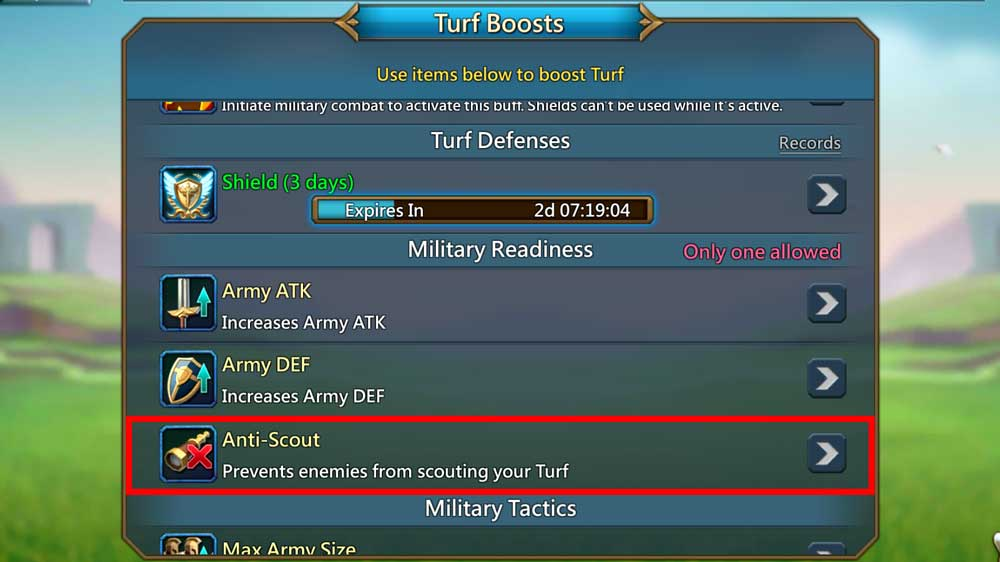 anti scout while attacking