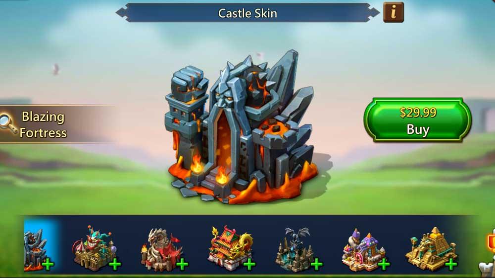 Blazing Fortress Castle Skin