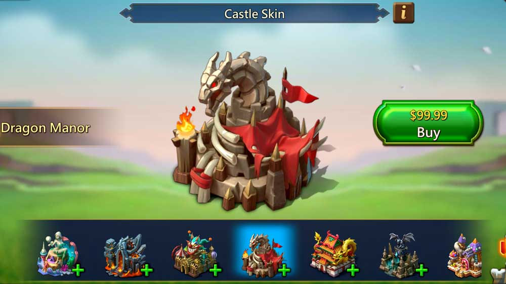 Dragon Manor Castle Skin