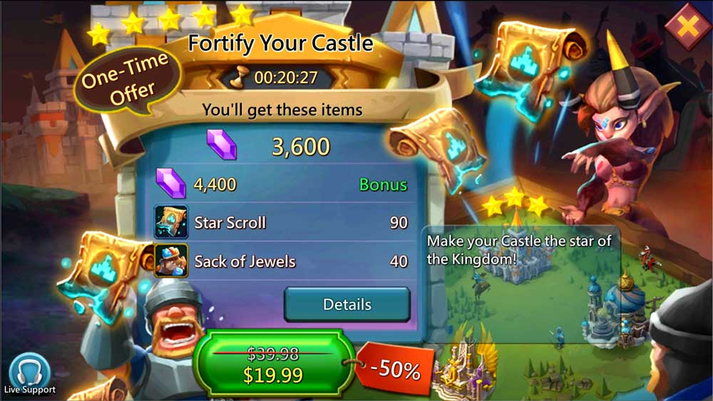 Fortify Your Castle Paid Packs Star Scroll