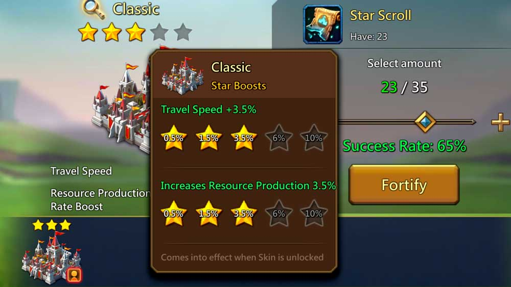 Star Boosts Chart for Default Skin