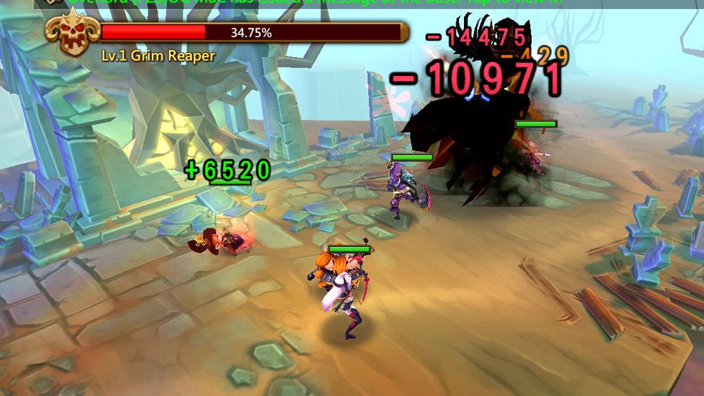 Grim Reaper in Battle Monster Hunt
