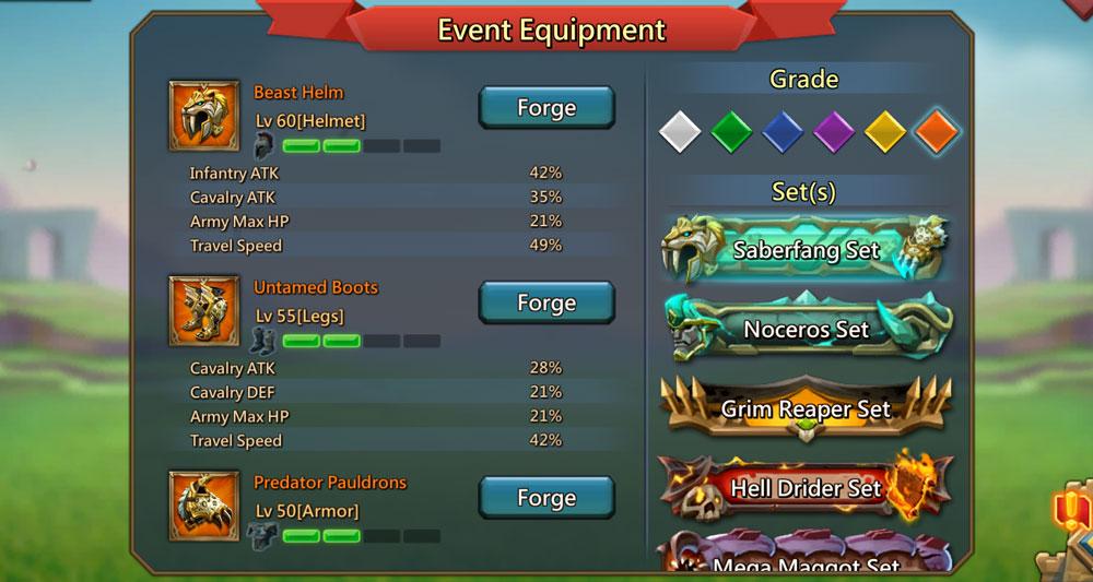 Saberfang Event Equipment Gear
