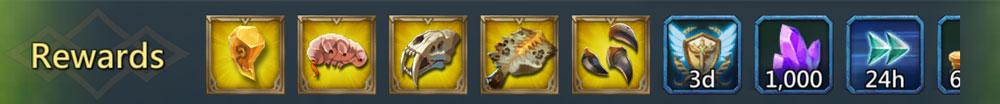 Saberfang rewards