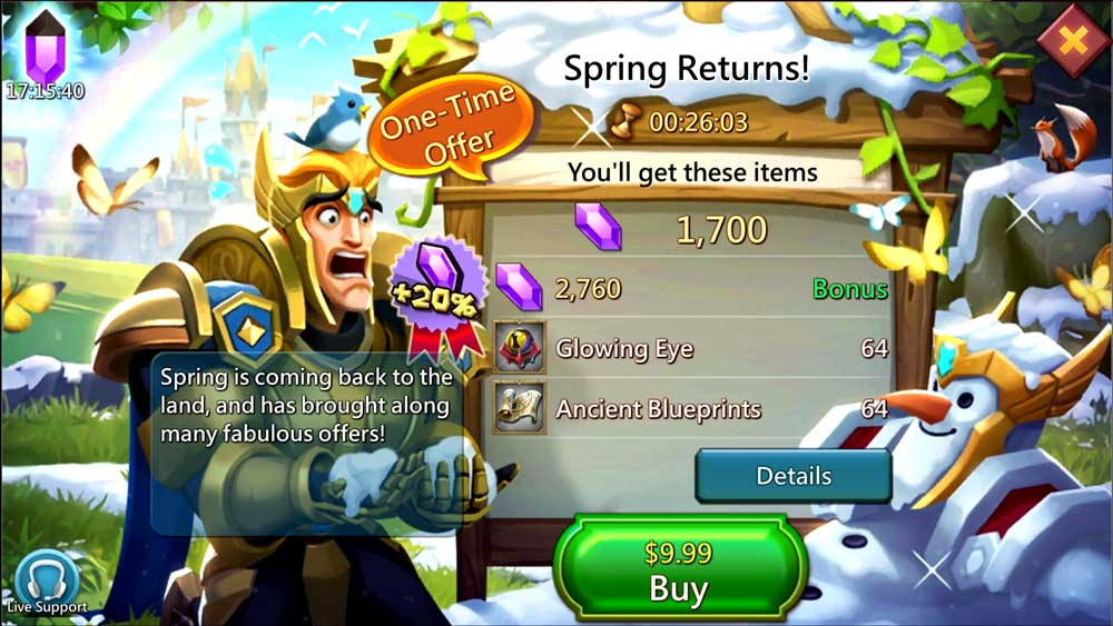 Spring Returns Paid Pack