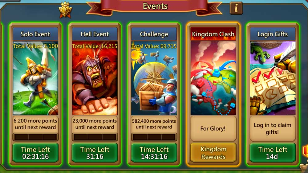 Hell Events and Solo and 24 Hour