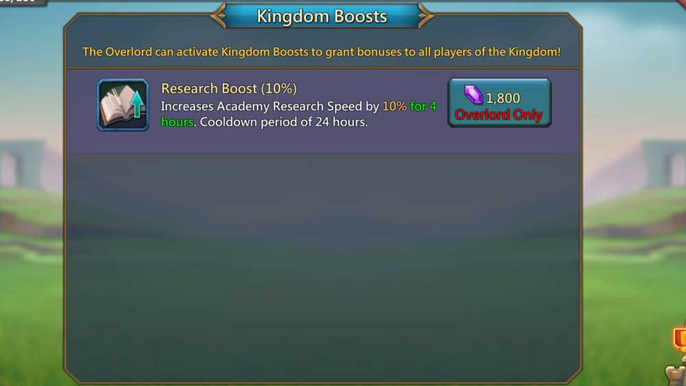 Kingdom Research Boost