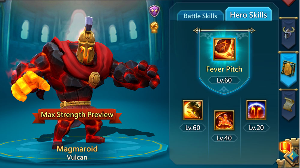Magmaroid Strength Hero Skills