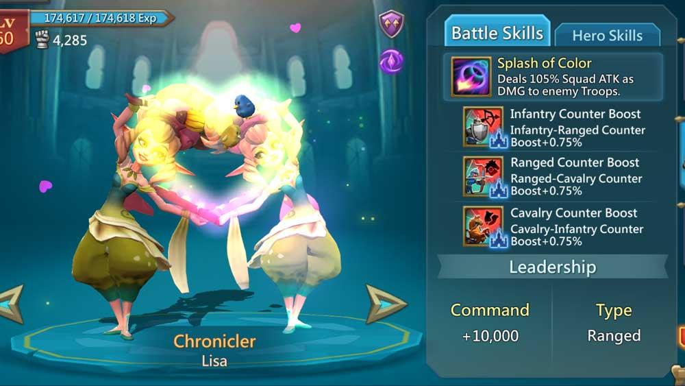 Chronicler Battle Skills