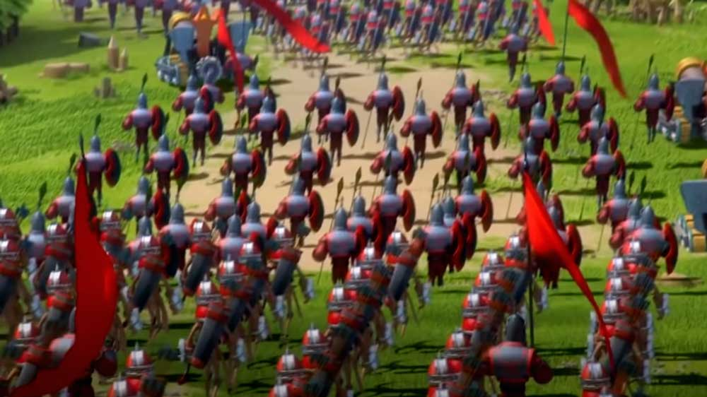 Marching Troops in Lords Mobile
