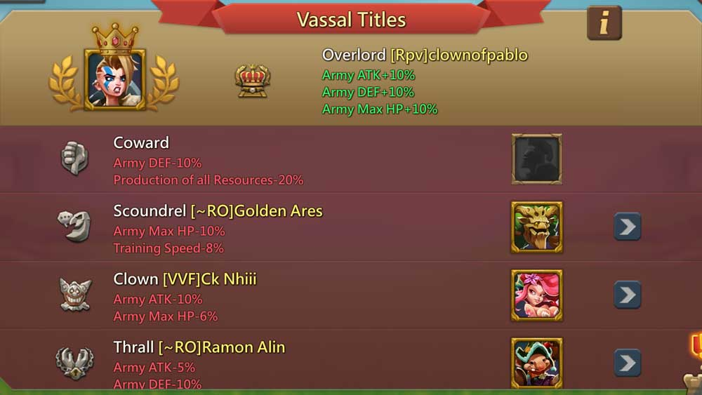 Bad Vassal Titles