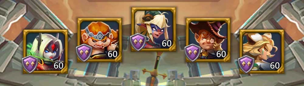 Frostwing F2P Hero Lineup level 5