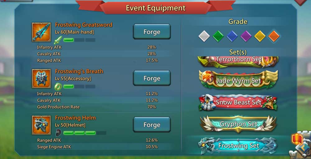 Frostwing Gear List