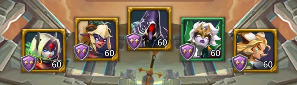 Frostwing P2P Hero Lineup
