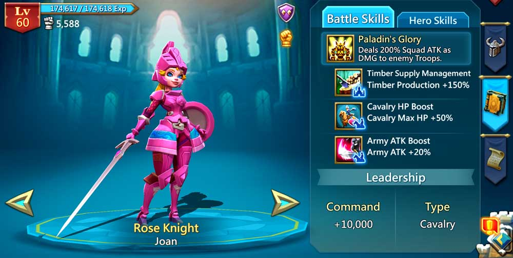 Rose Knight Battle Skills