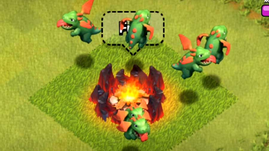 Baby Dragon in Clash of Clans