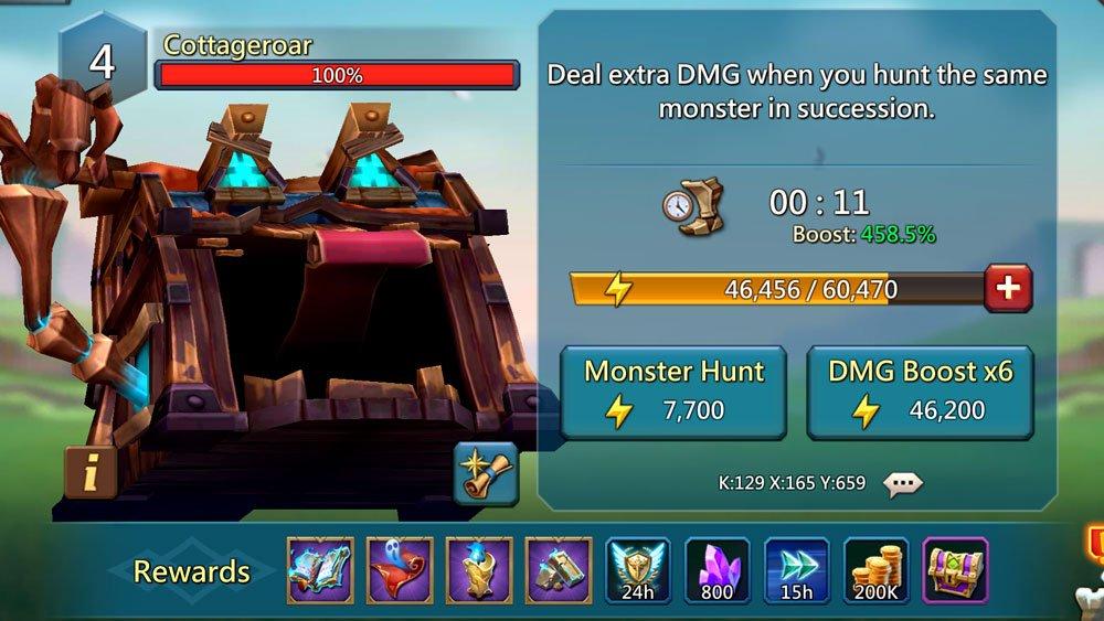 Cottageroar Monster Rewards