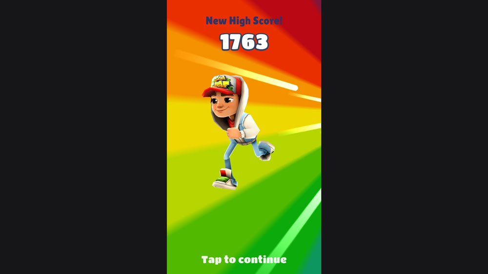 High Score on Subway Surfers