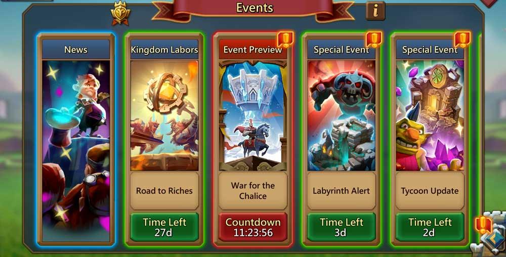 Kingdom Labor Event Button