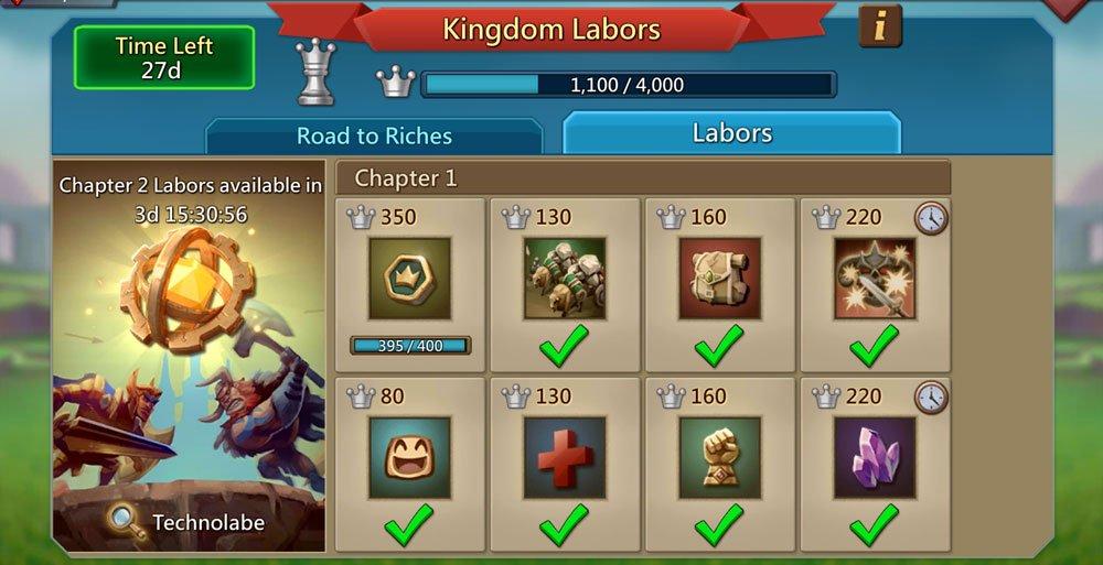 Kingdom Labors Main Page
