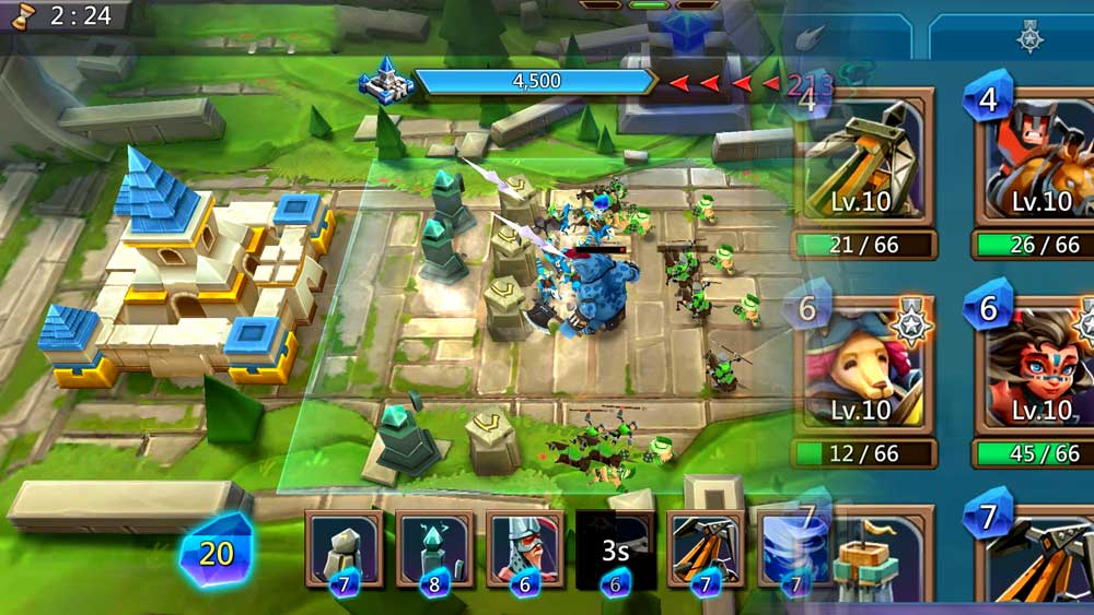 Vergeway Battle and Cards in Lords Mobile