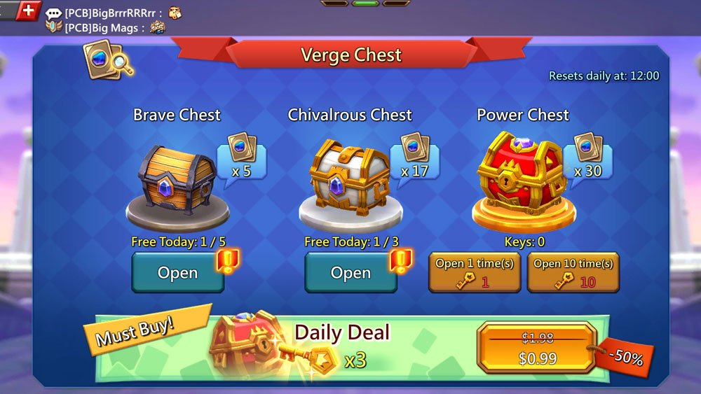 Vergeway Chests Brave Chests Chivalrous Chest